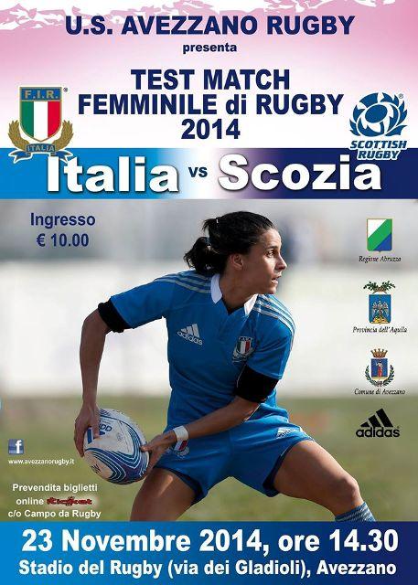 Test Match Femminile di Rugby - Italia Scozia