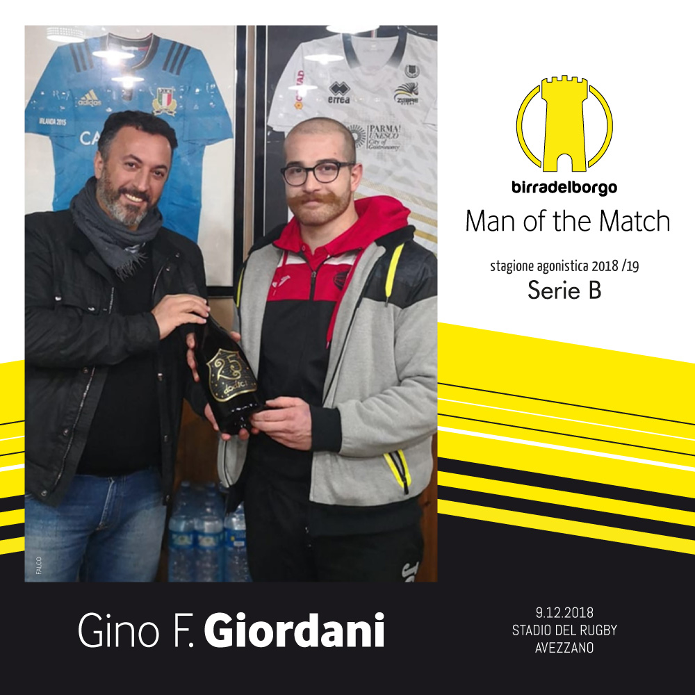 Man of the Match - gino fernando giordani