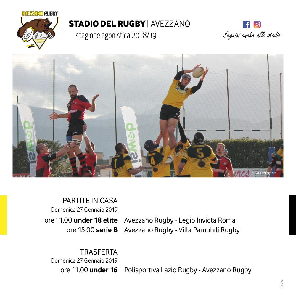 Stadio dei Gladioli Avezzano domenica 27 gennaio 2019 in campo under 18 elite, serie B e under 16