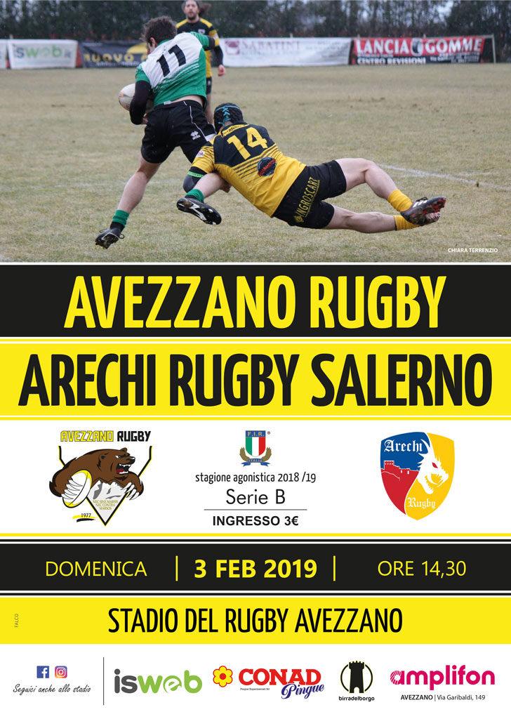 Avezzano vs Arechi Rugby Salerno - Locandina
