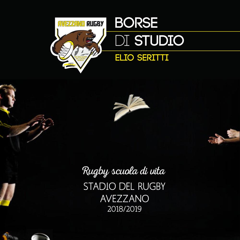 Copertina brochure borse di studio- avezzano rugby
