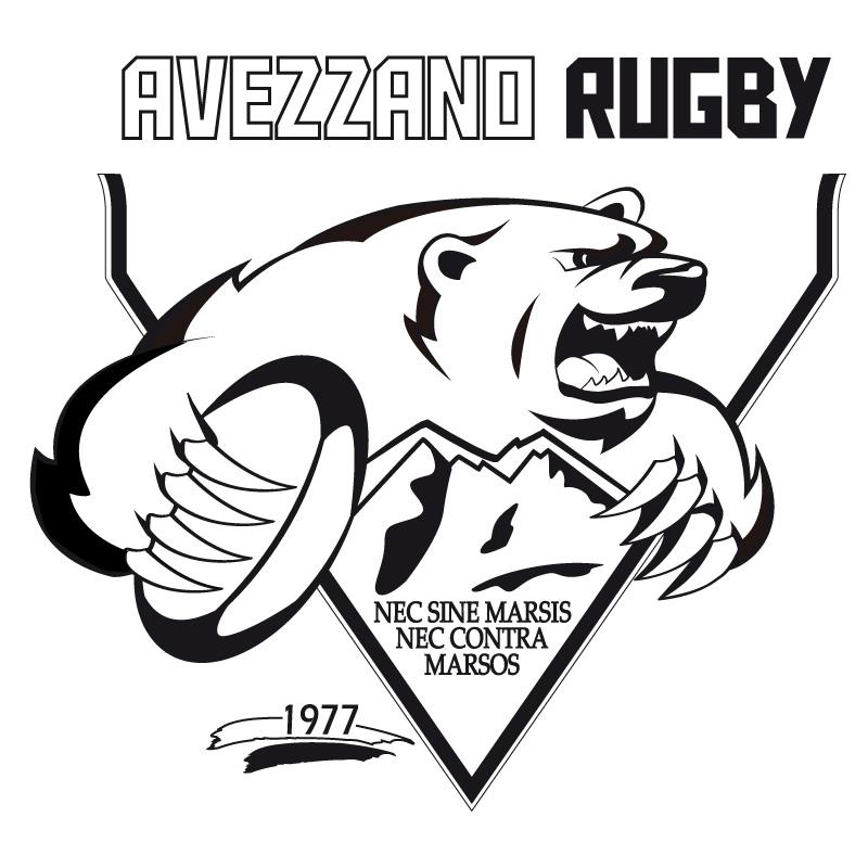 logo Avezzano Rugby black and white