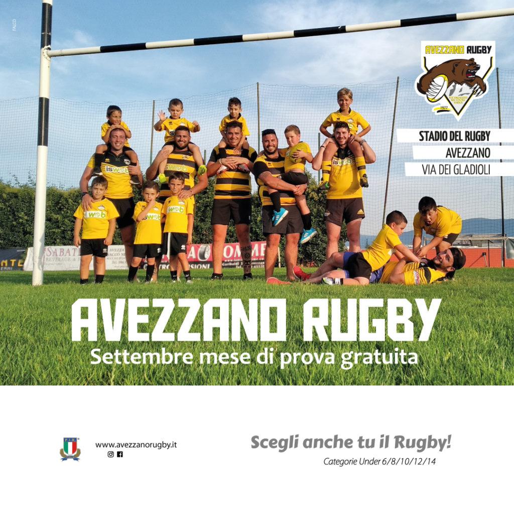 Minirugby Avezzano Rugby - Vieni a scoprire i valori di questo sport