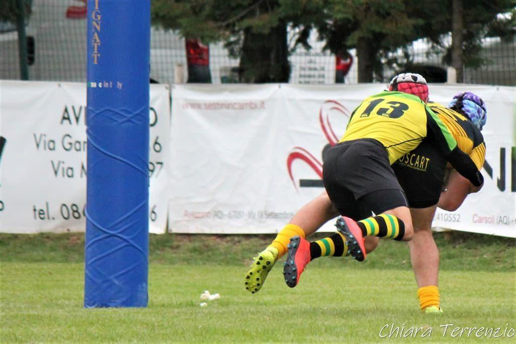 Avezzano Rugby - meta, placcaggio