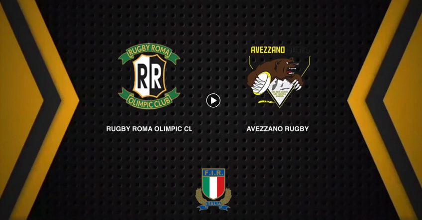 Video Serie b - rugby roma olimpic club vs avezzano rugby