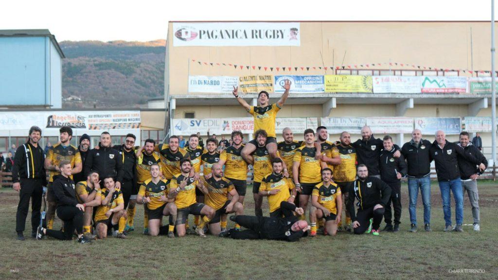 Paganica - Avezzano Rugby. Serie B, foto di gruppo