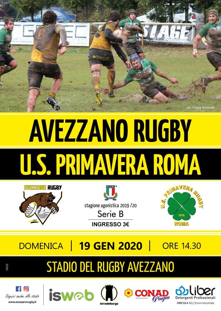 Big match tra Avezzano e u.s. Primavera Rugby Roma