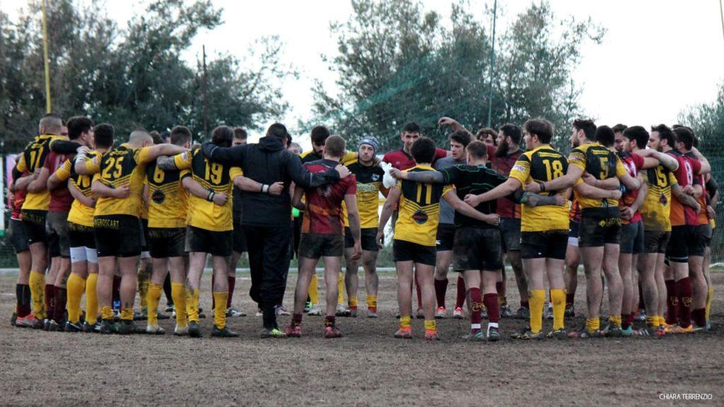 Avezzano vs frascati rugby. Saluto fine partita