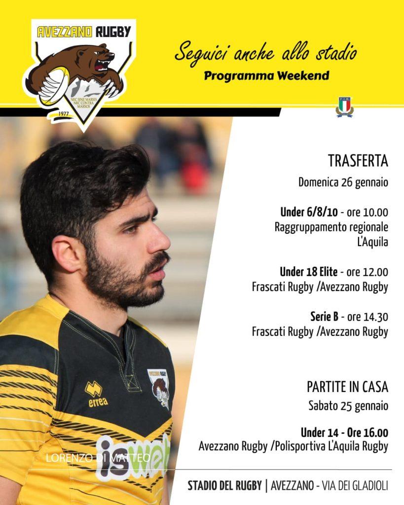 Partite in casa e trasfera - campionato avezzano rugby
