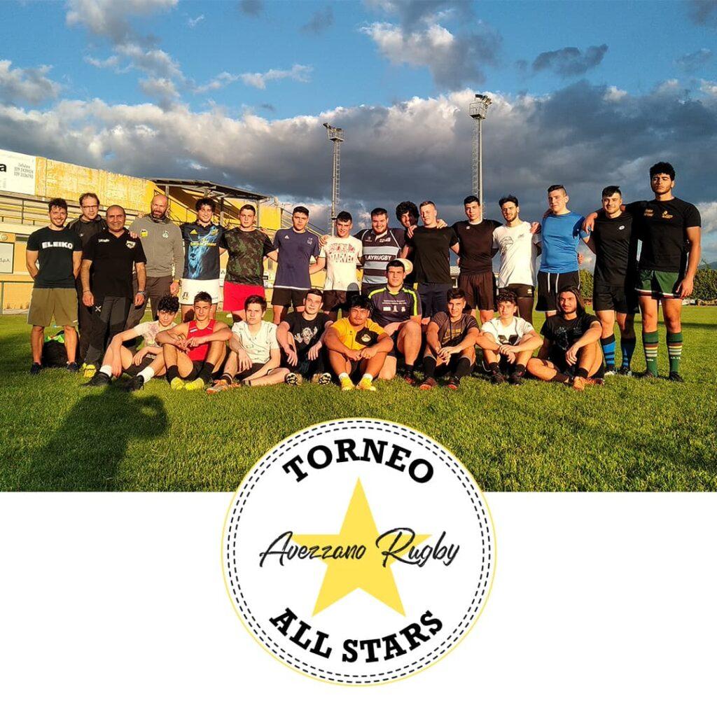 Torneo All Star logo - foto atleti avezzano rugby