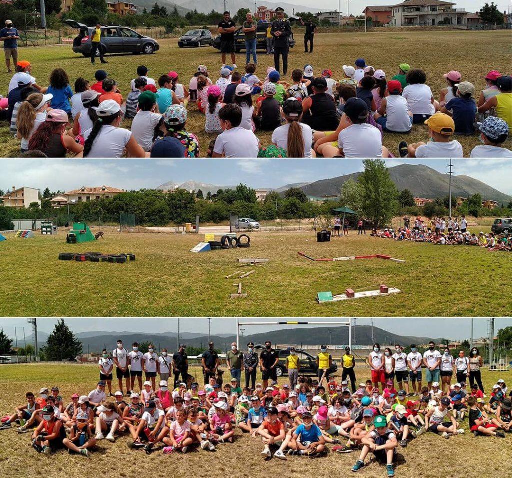Rugby e GdF in campo per formare nuove generazioni - fotocollage evento